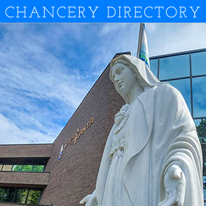 Chancery Directory Ad with Mary Statue